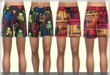 Мужские пляжные шорты с черепками от bukovka для Sims 4