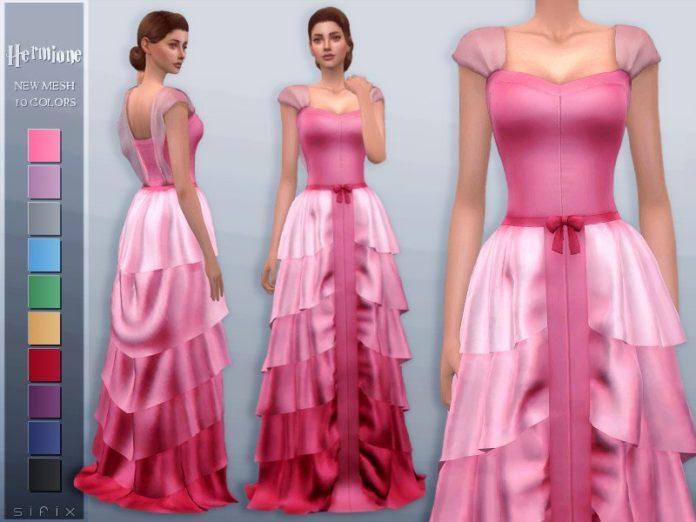 Платье Гермионы от Sifix для Sims 4