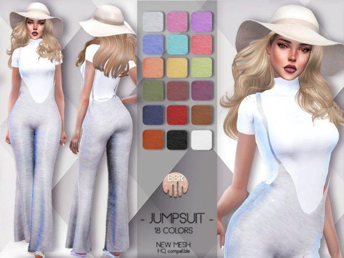 Женский комбинезон от busra-tr для Sims 4
