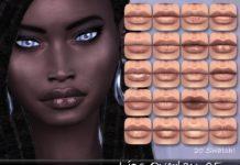 Наложение текстуры губ от tatygagg для Sims 4