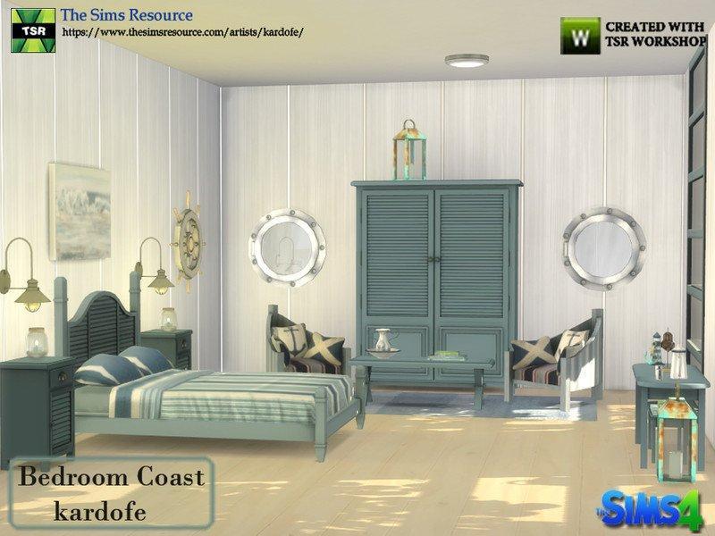 """Спальня """"Побережье"""" от kardofe для Sims 4"""