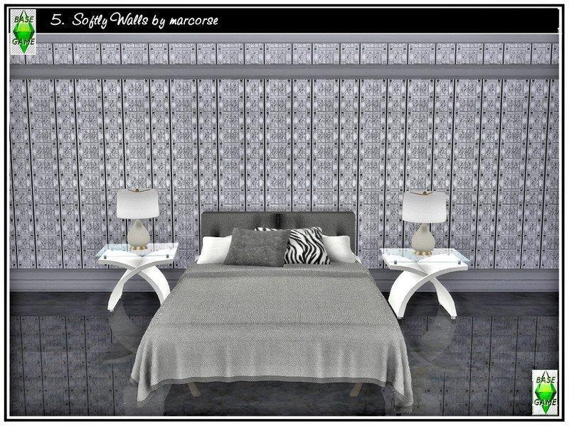 Черно-белые обои от marcorse для Sims 4