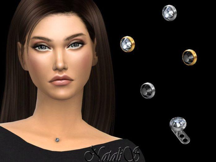 Пирсинг между ключицами от NataliS для Sims 4