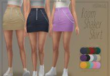 Мини-юбка на молнии с цепочкой от Trillyke для Sims 4