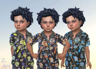 Яркая рубашка для мальчика от Zuckerschnute20 для Sims 4