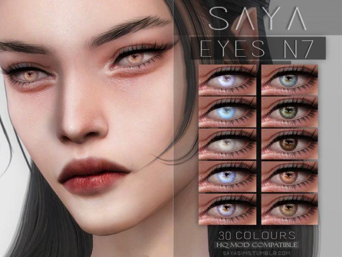 Линзы №7 от SayaSims для Sims 4