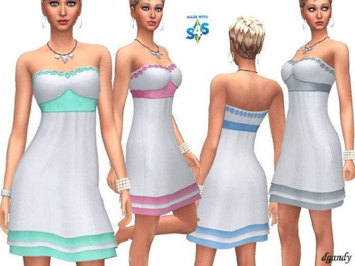 Сарафан без лямок от dgandy для Sims 4