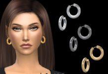 Серьги кольца от NataliS для Sims 4