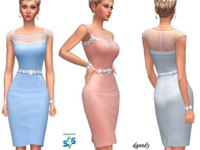 Миди платье-карандаш от dgandy для Sims 4