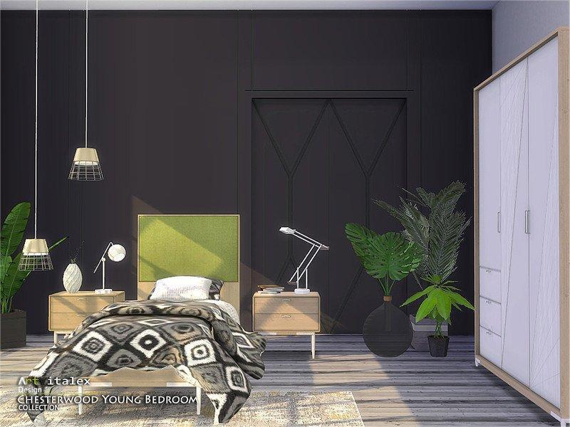 Спальня Chesterwood  от ArtVitalex для Sims 4