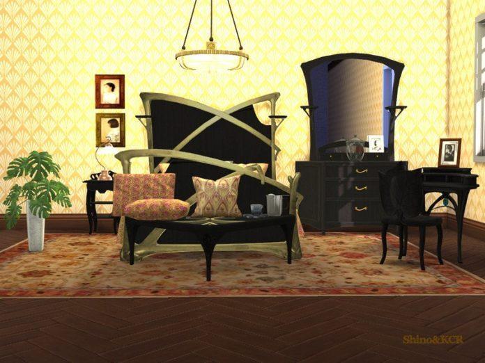 Спальня Art Nouveau от ShinoKCR для Sims 4