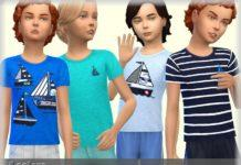 Футболка с корабликами от bukovka для Sims 4