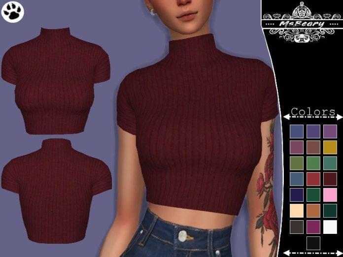 Водолазка Rib-Knit от MsBeary для Sims 4