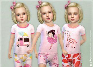 Летние пижамы для девочек от lillka для Sims 4