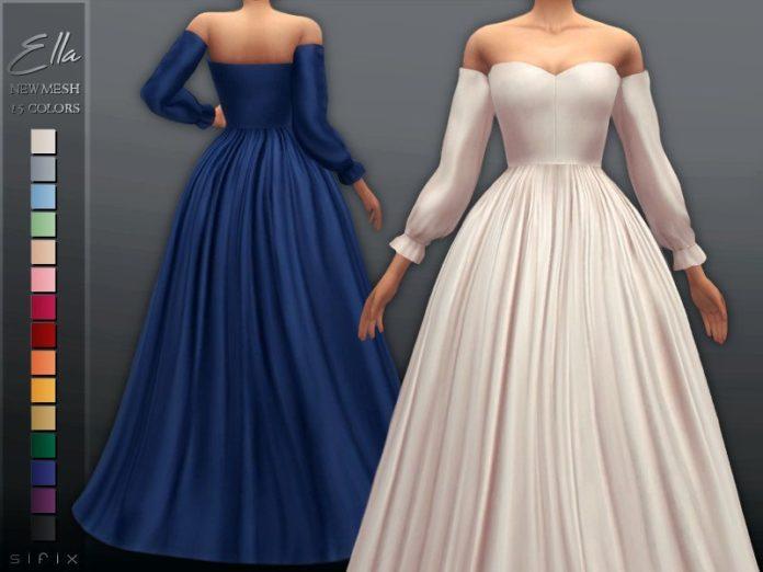 Бальные платья Эллы от Sifix для Sims 4
