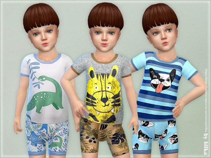 Летние пижамы для мальчиков от Lillka для Sims 4