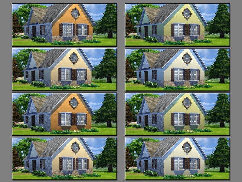 Кирпичные стены от matomibotaki для Sims 4