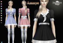 Платья Amnye от Jomsims для Sims 4