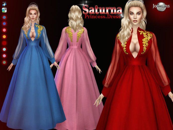 Платье принцессы Сатурна от Jomsims для Sims 4