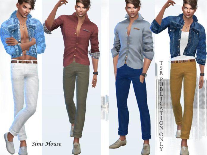 Классические мужские брюки от Sims House для Sims 4