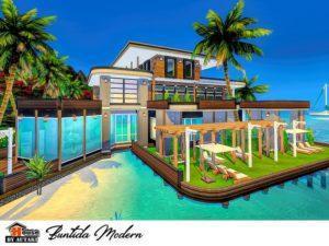 Современный дом на сваях от Autaki для Sims 4