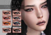 Тени для глаз Магнолия от SayaSims для Sims 4