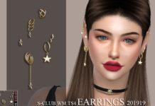 Серьги от S-Club для Sims 4