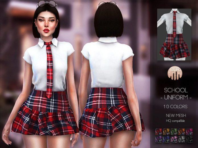 Школьная форма от Busra-tr для Sims 4
