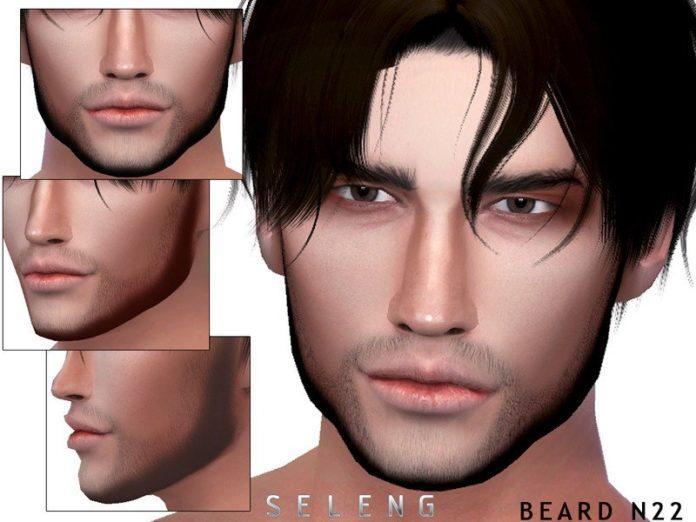 Борода №22 от Seleng для Sims 4