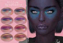 Светящиеся тени для глаз от IzzieMcFire для Sims 4
