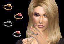Перстень с сердечком от NataliS для Sims 4