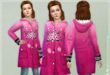 Розовый жакет от lillka для Sims 4