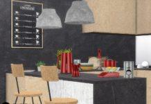 Декоративный инвентарь для кухни от wondymoon для Sims 4
