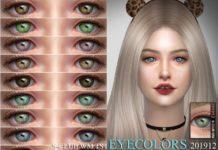 Цвета глаз 201912 от S-Club для Sims 4