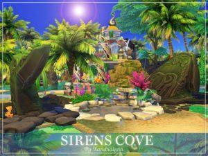 Пещера Сирены от Xandralynn для Sims 4