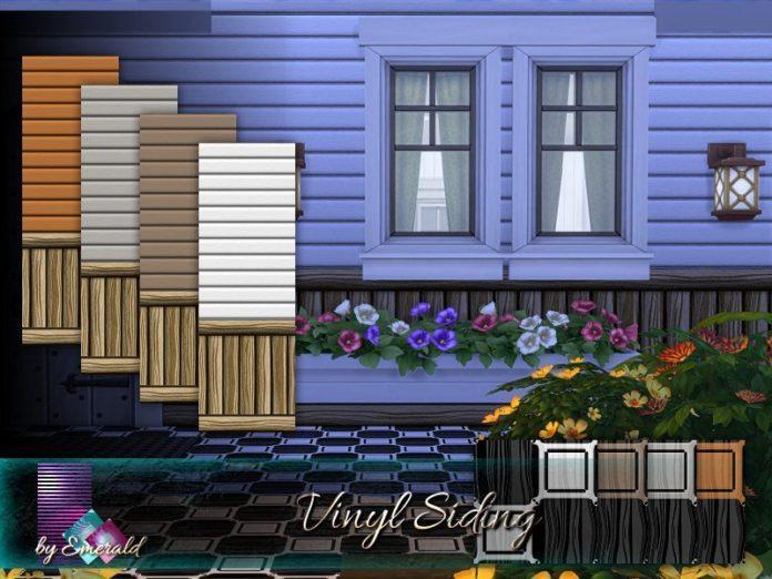 Виниловый сайдинг от emerald для Sims 4