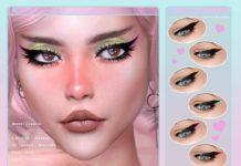 Стрелки для глаз от Screaming Mustard для Sims 4