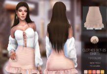 Мини-юбка для трико от busra-tr для Sims 4