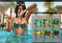 Топ из водорослей от DanSimsFantasy для Sims 4