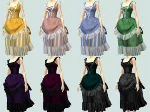 Неовикторианское платье от Sandrini Feierabend для Sims 4