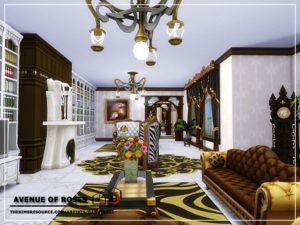Особняк «Аллея роз» от Danuta720 для Sims 4