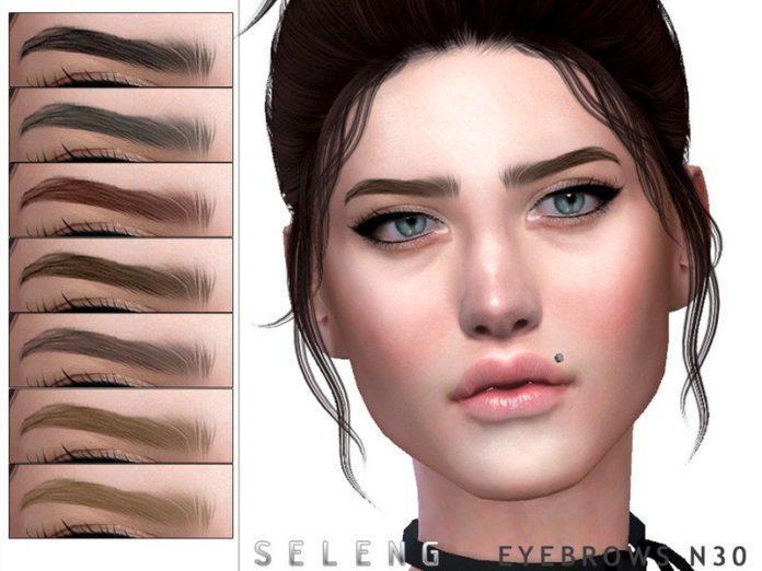 Набор бровей №30 от Seleng для Sims 4