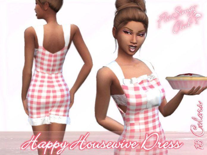 Платье «Счастливая домохозяйка» от FlaSimgo Club для Sims 4