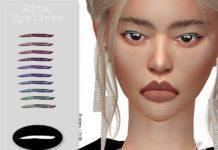 Стрелки для глаз «Рита» от IzzieMcFire для Sims 4