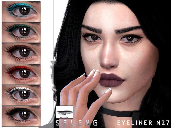 Подводка № 27 для глаз от Seleng для Sims 4