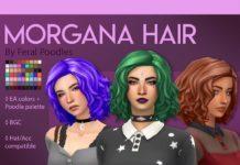 Женская причёска «Моргана» от feralpoodles для Sims 4