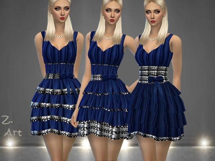 Вечернее платье «Мечта» от Zuckerschnute20 для Sims 4