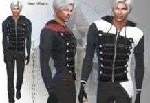 Мужская куртка Black Parade от Sims House для Sims 4