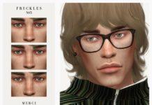 Мужские веснушки №05 от -Merci- для Sims 4