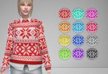 Женский свитер «Снежинка» от Jaru Sims для Sims 4
